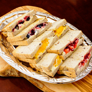 3 Kinds Of Sweets Sandwich Plate