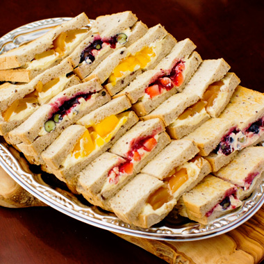4 Kinds Of Sweets Sandwich Plate